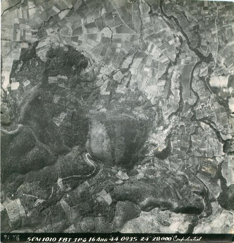 Aerial photo for Operation Dragoon.
