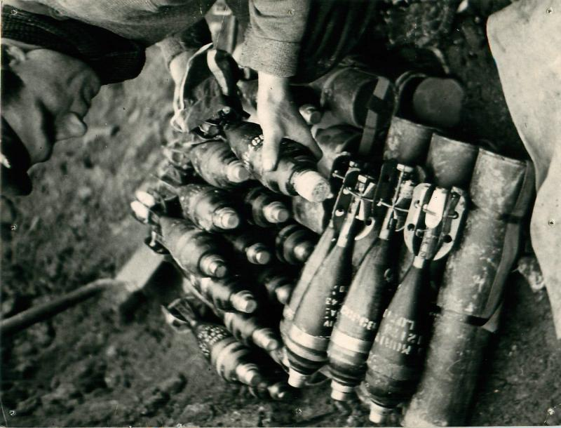 A Private prepared mortar shells.