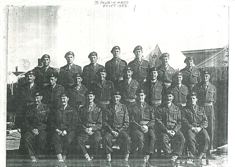 Group portrait of officers of 3 PARA in Egypt, 1953.
