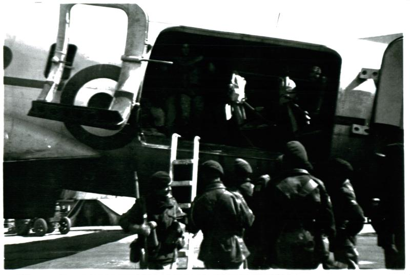HQ Company, 3 PARA, emplane at Nicosia for the Canal Zone. October 1951.
