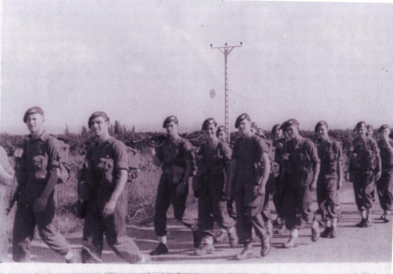 Members of B Coy, 3 PARA. Sarafand, Palestine, November 1945.