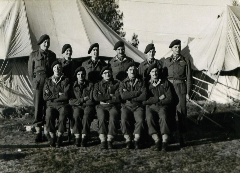 Group photo of men from 6th Airborne Division in Palestine.