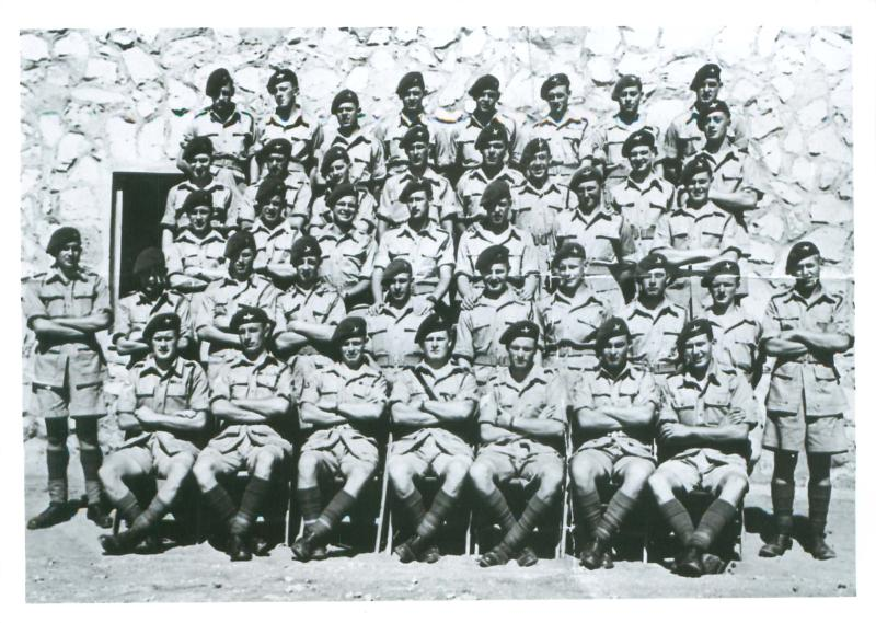 Group shot of 10 Platoon, T Company, 1 PARA in Palestine 1945.