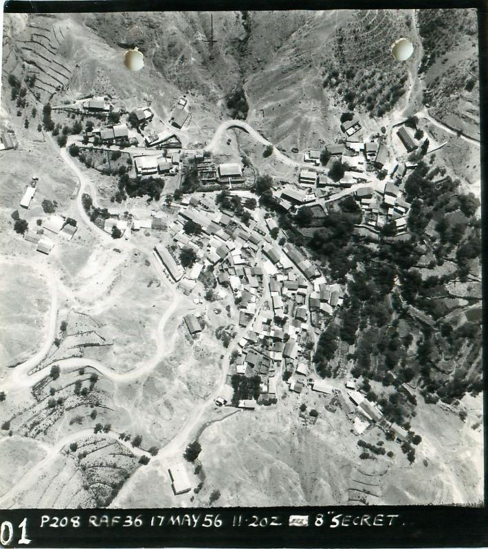 RAF reconnaisance photograph of Agridia, Cyprus, May 1956