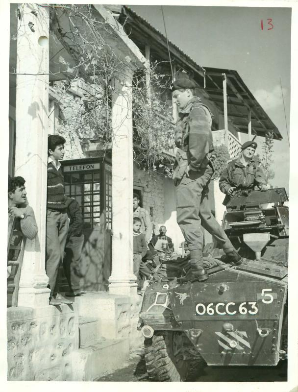 Guards Parachute Company patrol mountain villages of south west Cyprus.