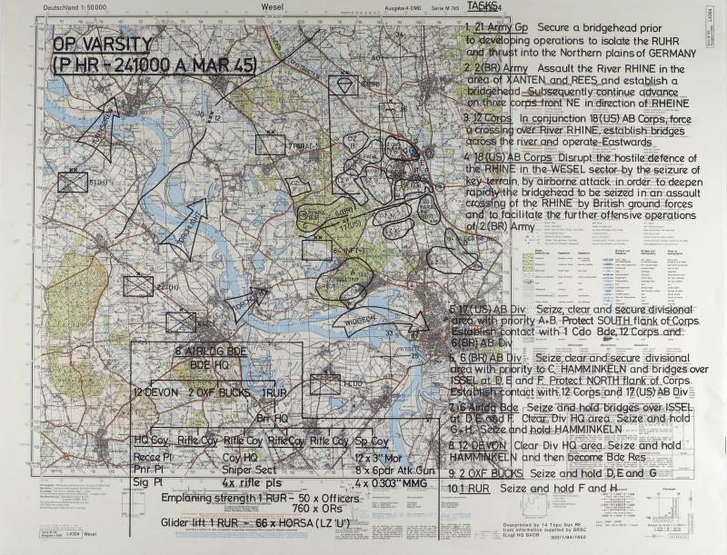 Map of Wessel detailing Operation Varsity