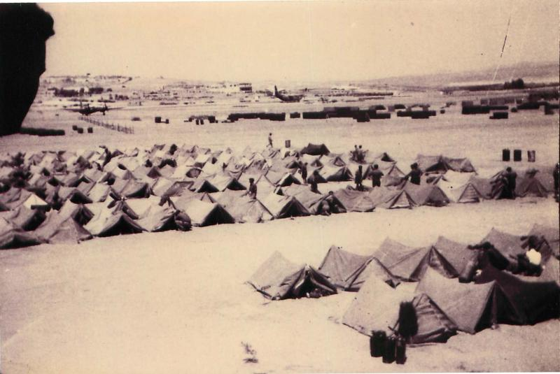 3 PARA tent lines at Amman, Jordan July 1958