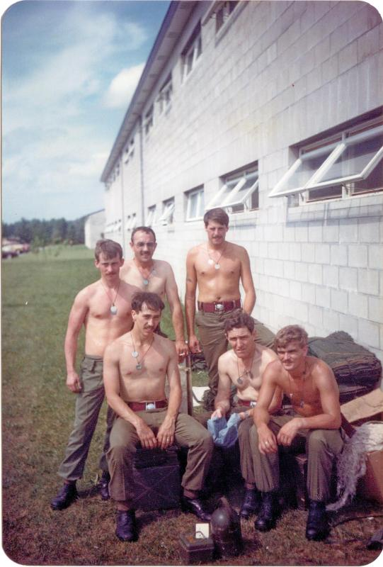 Group photo of men from A Coy, 4 PARA Mortars, Minnesota, 1983