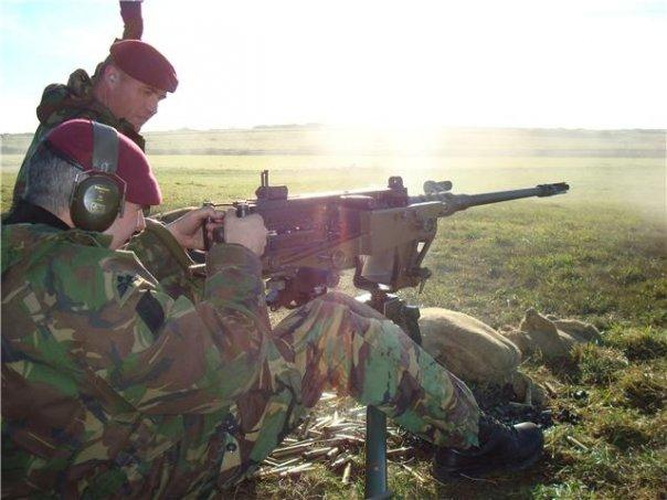 Firing the 50 Cal HMG on a training exercise, 2008