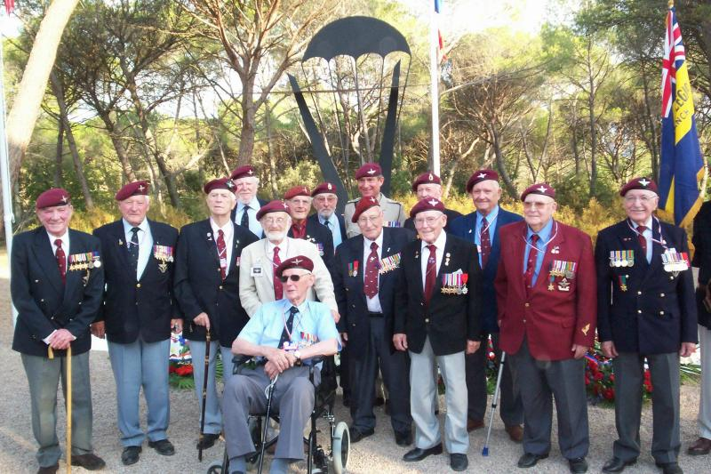 Veterans of 2nd Independent Parachute brigade in Le Muy on 65th Anniversary, August 2009