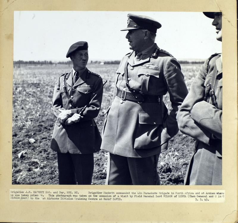 Brigadier Hackett with Field Marshall Lord Wilson of Libya at Ramat David