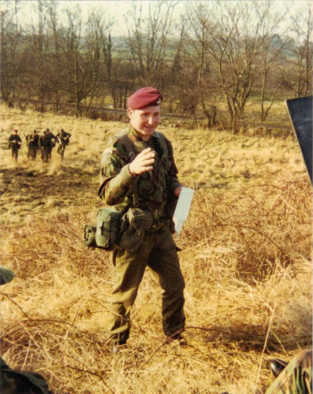 Cpl Johnny Heinz of A Coy, 4 PARA, training recruits at Ripon, 1980s