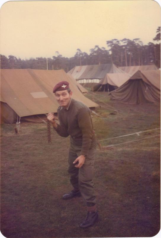 Cpl Satchwell of A Coy, 4 PARA, Hamlin, Germany, 1982