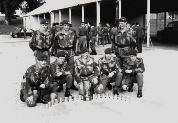 B Company, 4 Para, Cambrian march circa 1978.