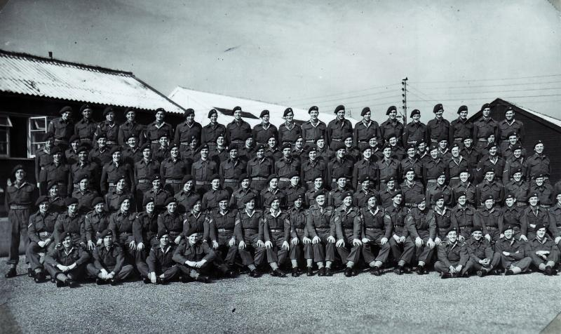 Group portrait of 3rd Parachute Battalion, Palestine