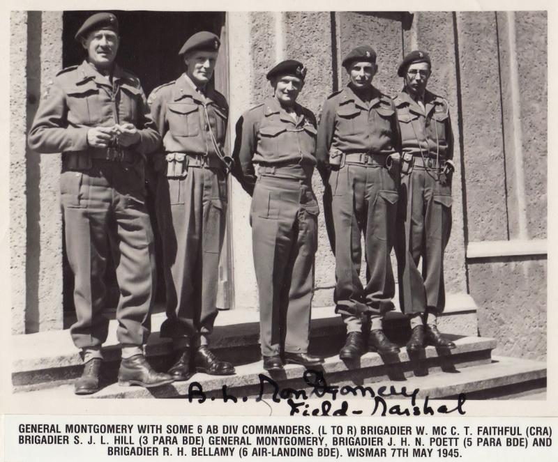 Monty with Commanders from 6th Airborne Division