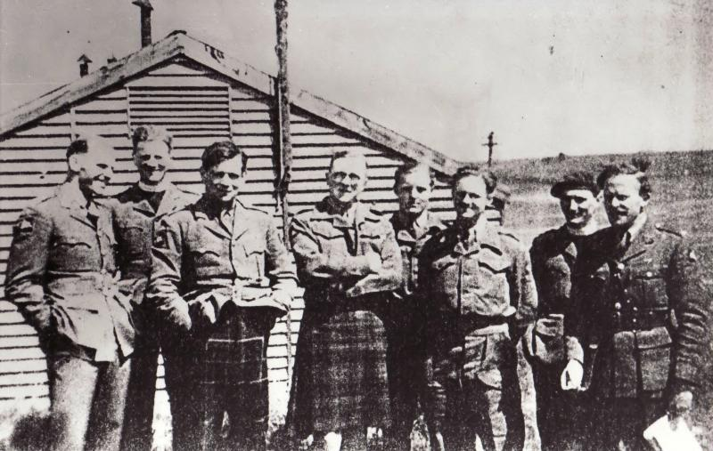 Lt Col Alistair Pearson with officers of the 8th Battalion Tilshead Camp 1944 Source: Marjorie Tripp