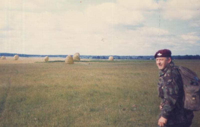WO2 Eddie Davis providing medical cover for 4 PARA during Exercise Brave Defender, at Thetford DZ,1984
