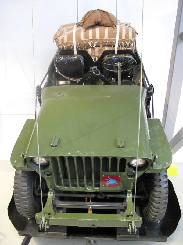 Airborne Jeep displayed at Airborne Assault Museum, Duxford