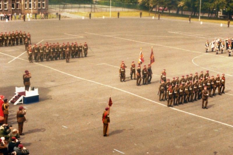 Presentation of new colours to 15 Para. 28 May 82.