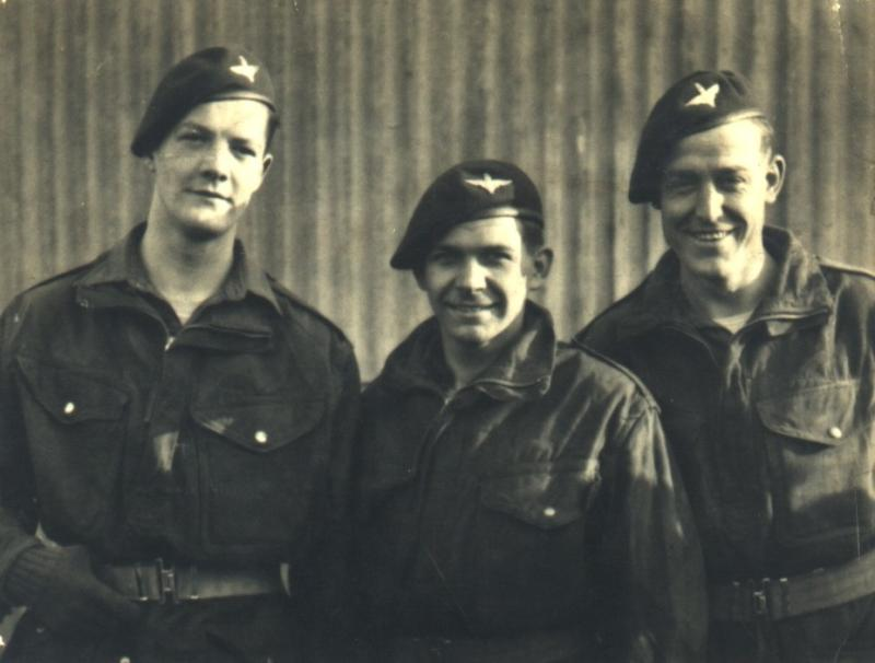 Eddie Johnson (on left) & Pals, Egypt 1946