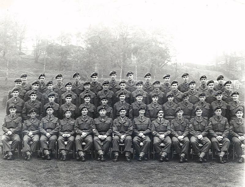 Group photograph of 16 Para Workshops REME, Waterloo Barracks, Aldershot, c.1956