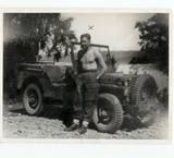 Chalky White and Jeep Haselbaken 1945