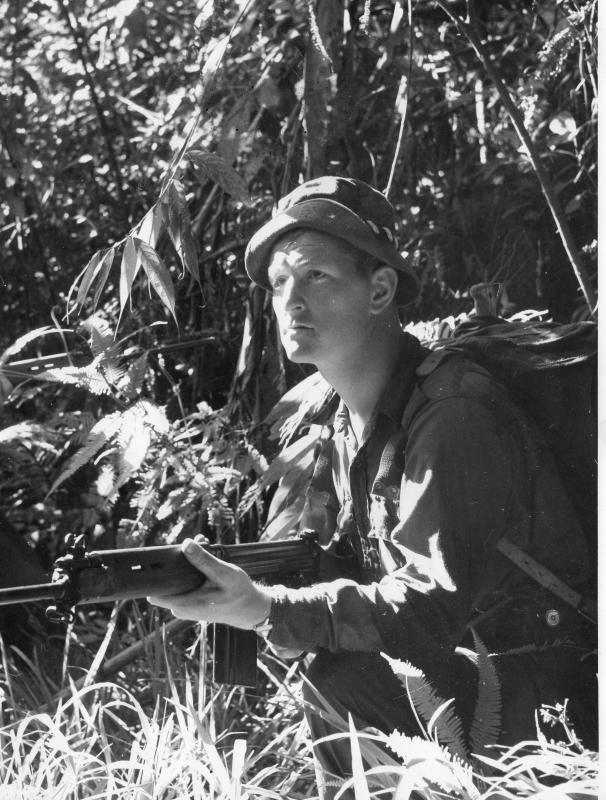 Sgt Michael Jones of Guards Para Coy with the Jungle Warfare School, Malaya, 1968