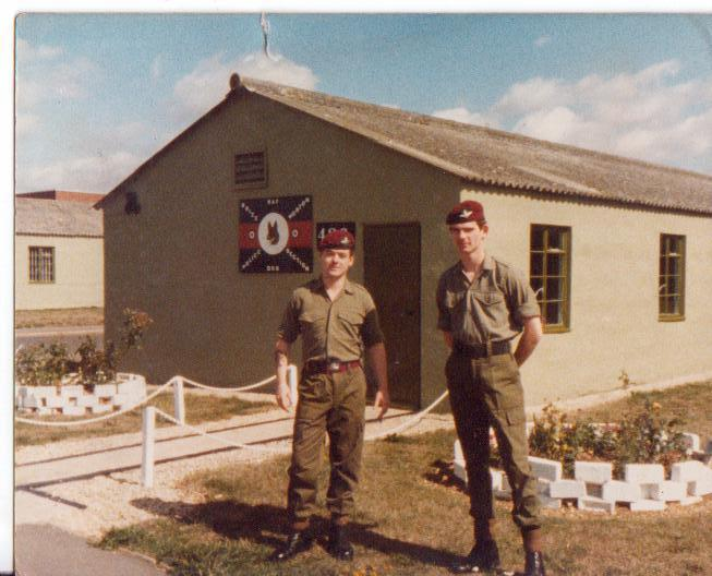 Me and my mate outside the RAF Police dog section hut Brize Norton circa 1981