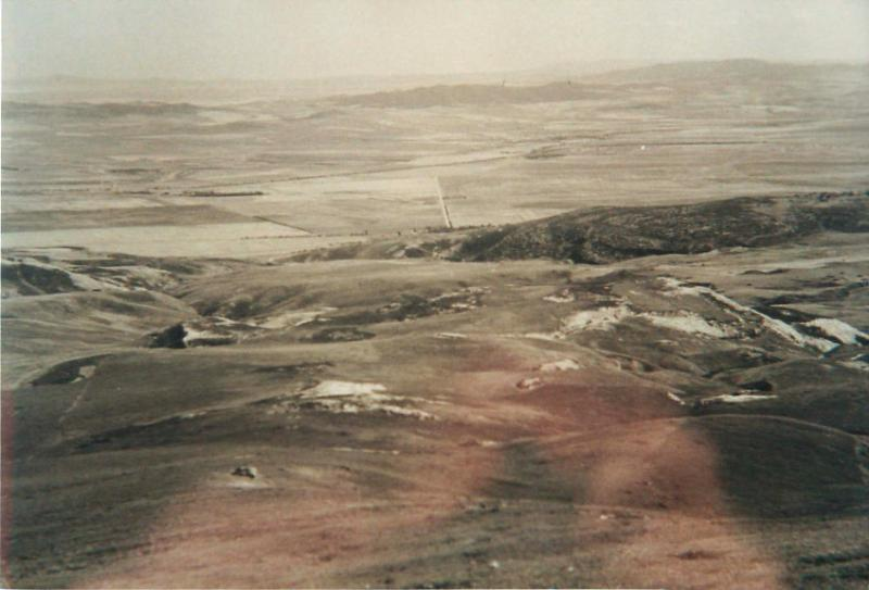 The barren Tamera Valley in 1943.