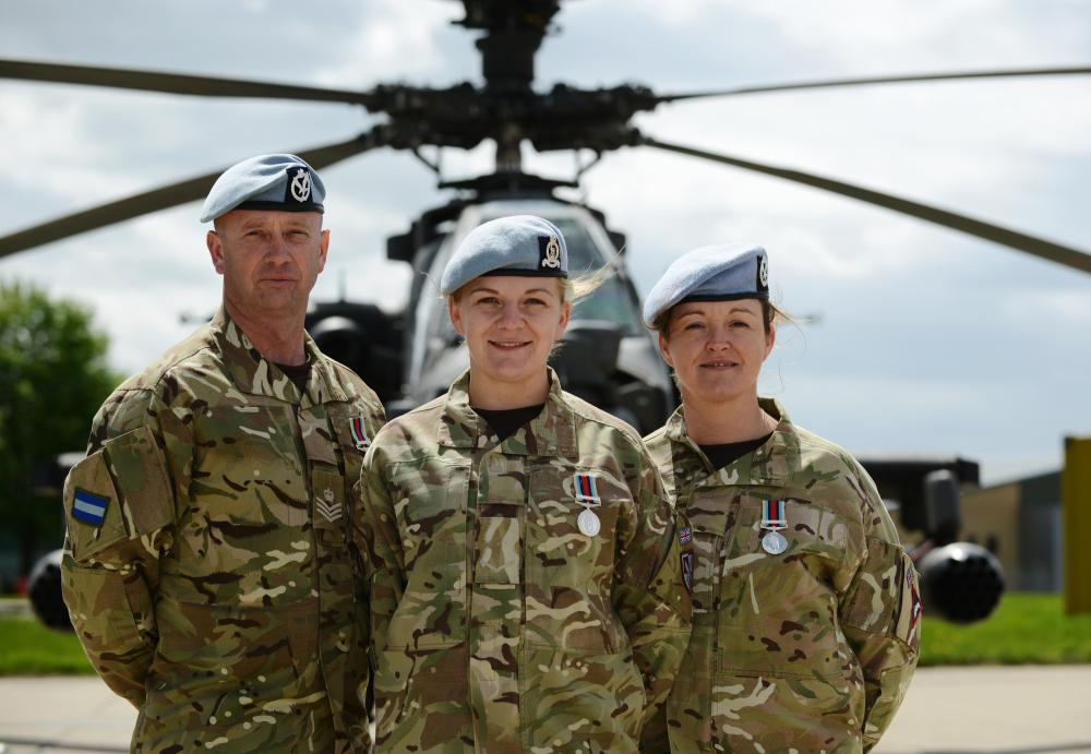 A member of 3 Regt AAC with Army Air Corps colleagues, Wattisham ...