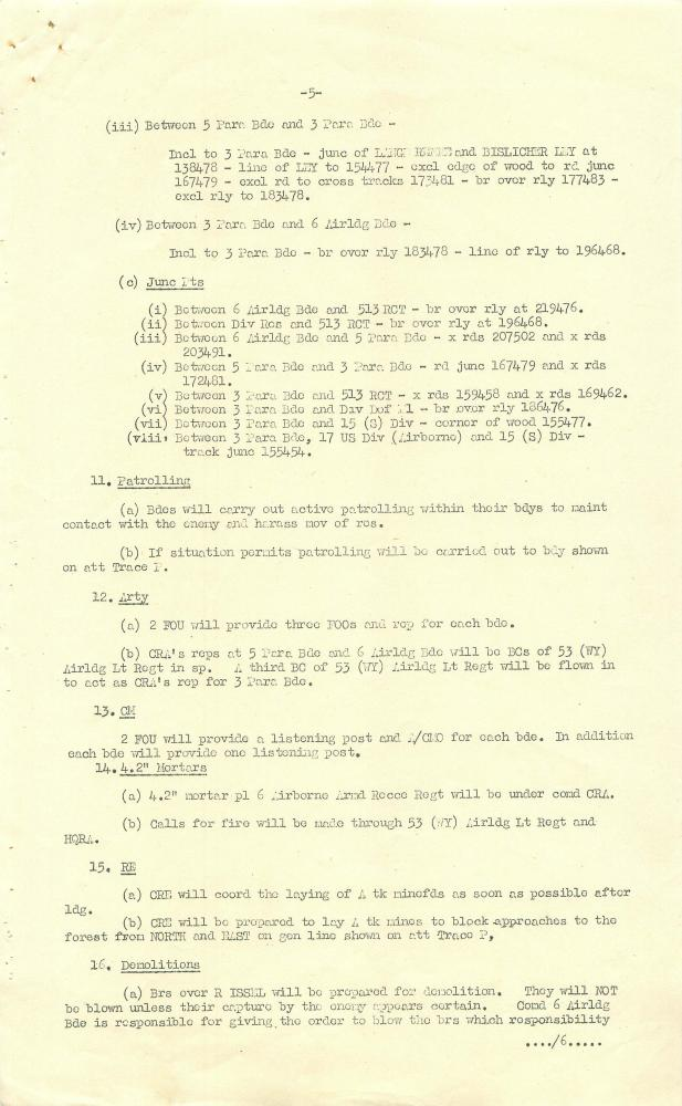 6th Airborne Division Operation Order for Rhine Crossing  | ParaData