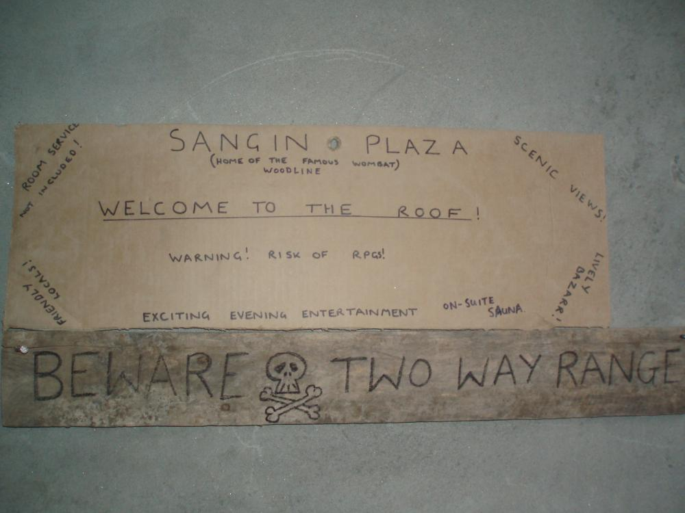Welcome to the roof! Sangin, July 2006 | ParaData